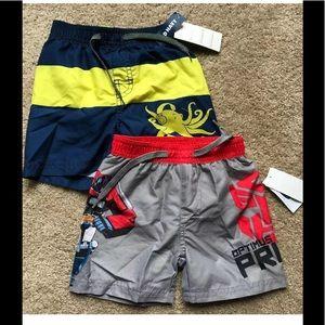 12-18 month toddler boy swim trunks shorts NEW